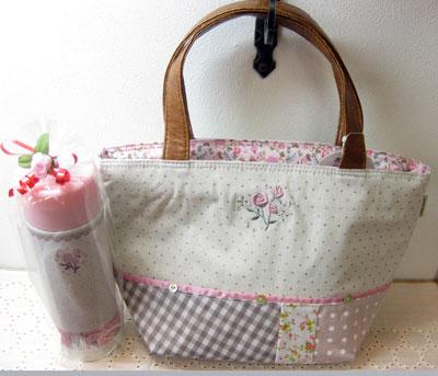 ランチバッグ ステンレス水筒 バラ