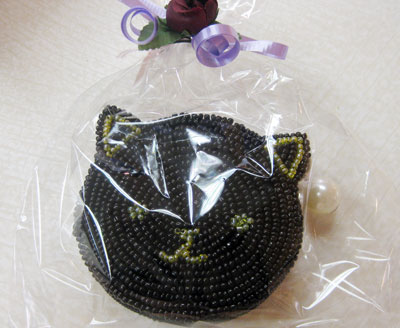 アクセサリーケース兼小銭入れ 黒ネコ ¥1260
