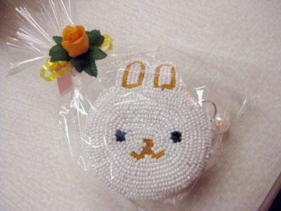 アクセサリーケース兼小銭入れ 白ウサギ ¥1260