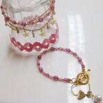 オリジナル チャームブレス ピンク