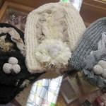 フリル付きニット帽 ¥2625