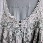 袖つきロングワンピース 襟
