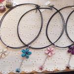 お花とちゅちょのネックレス ¥1890