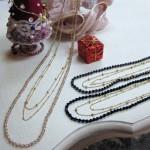 スワロフスキー&ゴールドチェーン 3連ネックレス ¥2940
