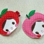 もも&りんごちゃんヘアピン ¥735