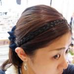 三つ編みカチューム ¥840