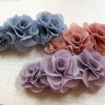 フワフワお花のバレッタ ¥1575
