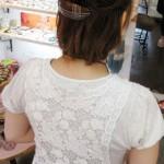 ショートヘアーのアレンジ例