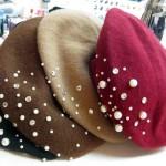 パール&ビジュー付ベレー帽 ¥2940