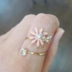 お花とチョウのリング