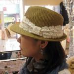 新作つば広帽子 ¥2940