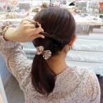 リボンヘアゴム ¥630