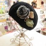 ハンドメイドベレー帽