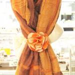 スカーフ留めヘアーアクセ