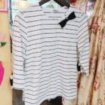 リボンボーダーTシャツ