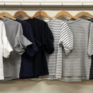 綿100% バルーン袖Tシャツ